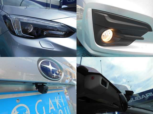 夜間明るく快適な『LEDヘッドライト』&『フォグランプ』!!駐車時に便利な『バックカメラ』!!もちろん運転支援システム『アイサイト バージョン3』搭載モデルです!!!