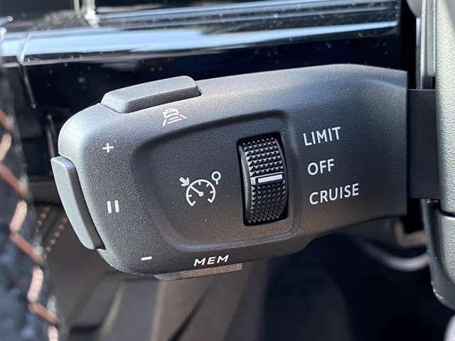 高速で定速走行時にアクセル操作から開放させてくれるクルーズコントロール。