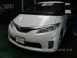 トヨタ エスティマハイブリッド 2.4 G レザーパッケージ 4WD フリップダウンモニター パワーバックドア