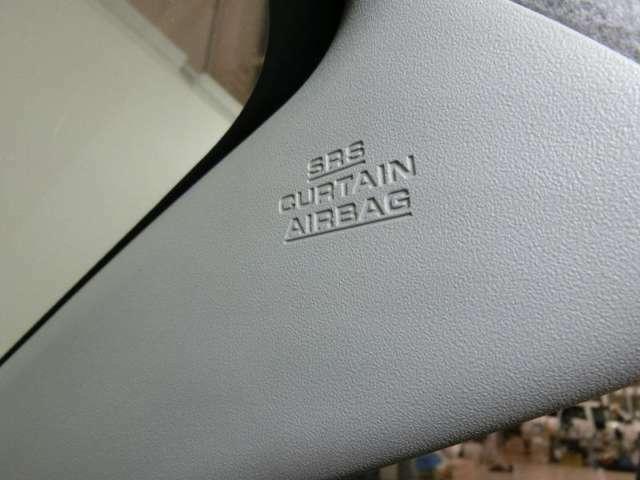 エアバッグは、運転席、助手席のほか、サイド、カーテン、後と備えています。