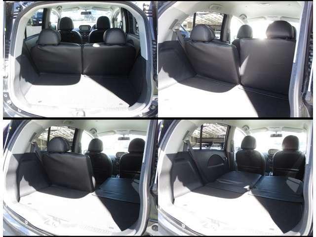 2シーター間隔で、後席を全て荷室スペースに!