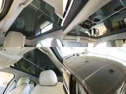 【パノラミックルーフ メーカーオプション 参考価格228,000円】「後席まで広がるパノラミックルーフは遮るものがなく、後席からもでも解放感たっぷりの仕様です。車内に明るい日差しを取り入れます。」