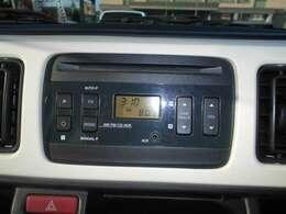 純正AM・FMラジオ付きCDステレオが標準装備♪