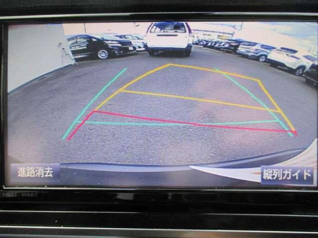 【バックガイドモニター】ハンドルを切ると車の進行方向にガイド線が動きます!車庫入れの際にあると嬉しいですよね♪