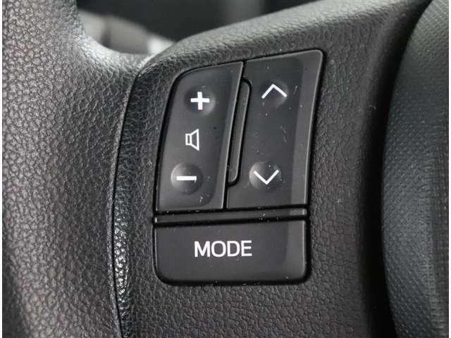 ステアリングスイッチがついていて便利ですね!