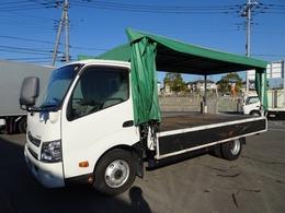 トヨタ ダイナ カーテン式幌車  三方開き 4650kg積載 ワイド ロング あおり開閉補助装置付