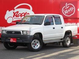 トヨタ ハイラックス 3.0 デラックス ダブルキャブ 低床 一方開 ディーゼル 4WD 97823km時Tベルト交換済 5MT 4WD