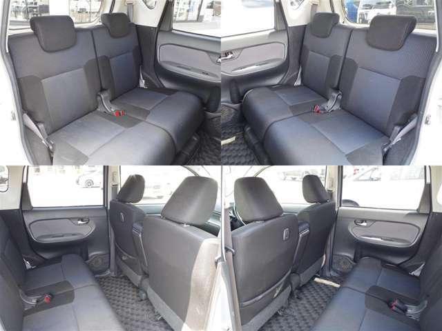 足元広々で、ゆったりとした後席ですね。後席でノビノビ、リラックス快適な空間でドライブはいかがですか。