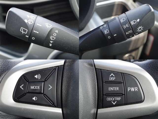 ステアリングに各種のスイッチが付いてますので、運転中に余所見することがありませんね!