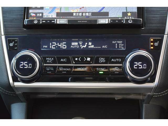 運転席側、助手席側それぞれで温度設定ができる左右独立フルオートエアコン。