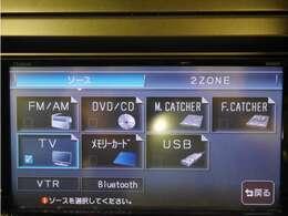 「AVソース」様々なメディアのオーディオを利用できます!