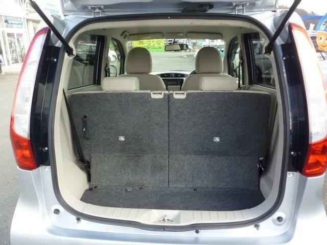通常荷室スペースでも十分なスペースがあります。