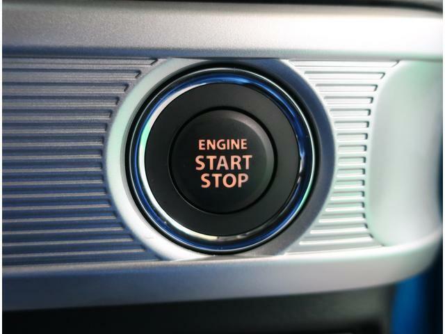 ボタン1つでエンジンのスタートまで可能です。