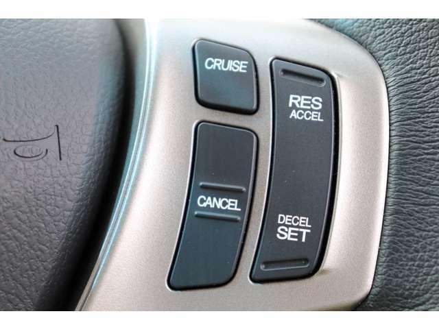 設定した速度でアクセルを踏まずに走行が可能なクルーズコントロールを搭載!