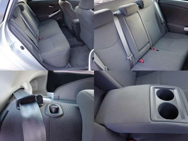 ゆったりとした後部座席で、シートアレンジも多彩です。座面は跳ね上げができて、背の高い荷物などを載せる時も便利です。広さと利便性を兼ね備えた後部座席です。