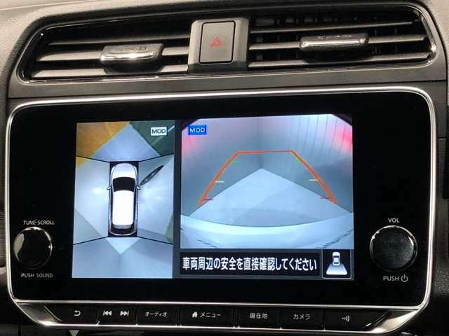 《アラウンドビューモニター》車を上から見下ろしているかのような映像で周囲の状況がひと目で確認、狭い駐車場に駐車するときも安心です♪♪障害物などがあると警告音がなりますので安心して駐車が出来ます★