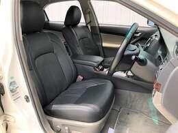 ●黒革調シートカバー フロントシートは目立つキズや汚れなども少なくキレイな状態となっております♪
