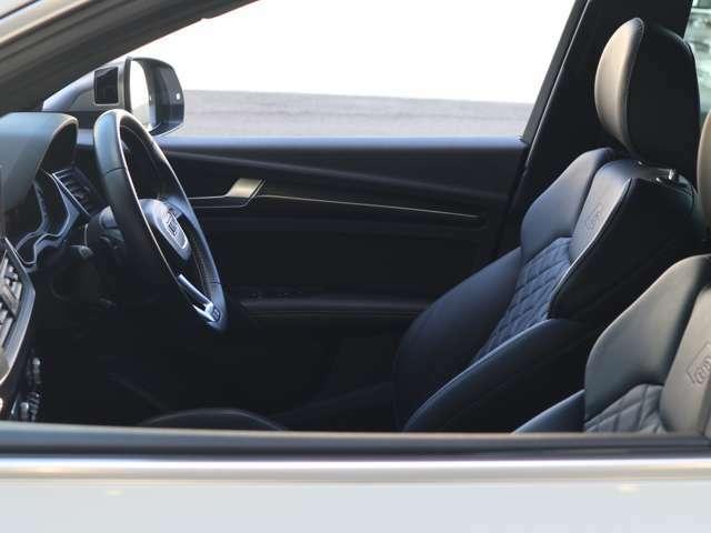 ●高品質で丈夫なフルレザーシート付き車でございます。室内より高級に演出しております。さらに運転席・助手席シートヒーター付きですので寒い冬でも大変心地良く運転をしていただけます。
