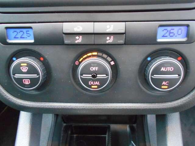 夏季はよく冷え、冬季は瞬時に暖まる運転席&助手席の温度が個別に調整できるエアコンです!このゴルフVのエアコンが故障した例はめったに聞きません。当社でのゴルフV販売車両も故障がなく、メンテフリーです!
