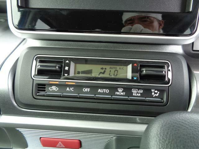 フルオートエアコンは、車内を年中快適に保ちます。