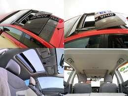 外観もガラスルーフで素敵ですが 電動でスライドのサンルーフは更に良いですね 駐車時に太陽光で室内温度上昇を防ぐ ソーラーベンチレーターも装備してます、後から付けれない大事な装備ですよ・・・