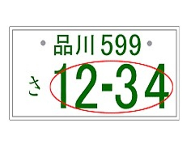Aプラン画像:お好みの四桁の数字をお選び頂けます。
