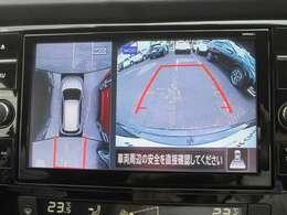 インテリジェント アラウンドビューモニター。上空から見下ろしているかのような映像をメーター内のディスプレイに映し出し、スムーズな駐車をサポートします。さらに移動物 探知機能付です。