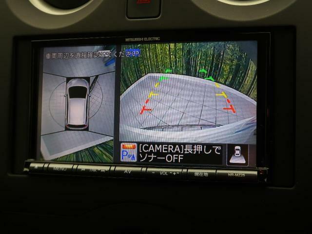 アラウンドビューモニター☆クルマを真上から見ているかのように、周囲の状況を把握しながら安心して駐車が行えるアラウンドビューモニター。