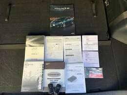 ユーザー様より直接買取車両なので保証書、取り扱い説明書、ナビ説明書等揃っています。