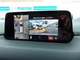 メーカーオプションの上から俯瞰した映像を映し出す360度ビューカメラ搭載!