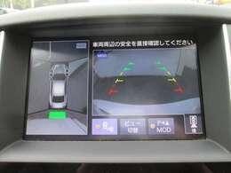 まるで車を見下ろしたかのような映像をナビに映し出し、狭い駐車場でも周囲を確認することが出来ます!