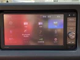 Bluetooth、フルセグ対応の多機能純正ナビです。