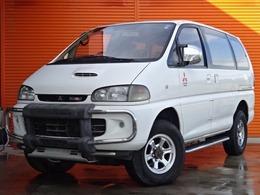 三菱 デリカスペースギア 2.8 エクシードI ツインサンルーフ ディーゼルターボ 4WD 社外アルミ マフラー ターボ 8人乗り
