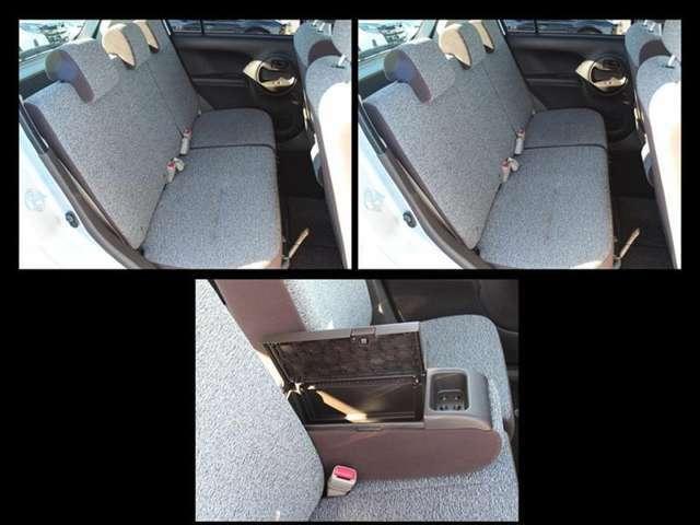 前席はベンチシート!ひじ掛けで運転席と助手席を分けることも出来ます!またひじ掛け部分はコンソールボックスになっていて、普段使うものを入れておくのに便利です!