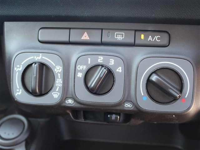 エアコンはマニュアル設定!お好みの風量と温度設定が出来ます!