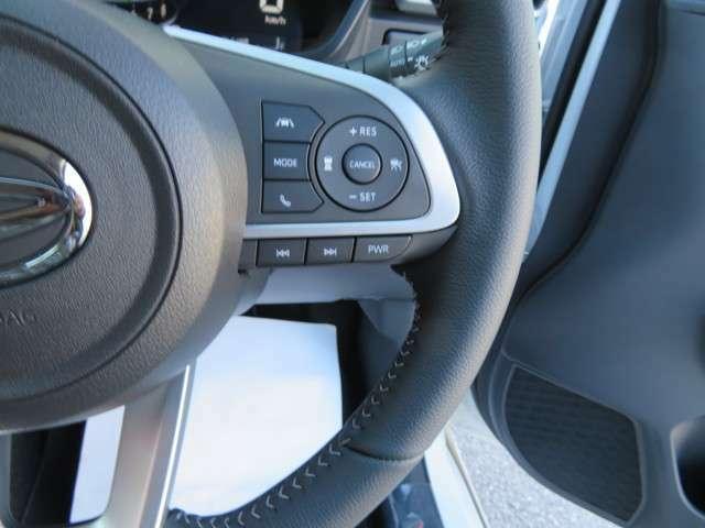 クルーズコントロール付き☆高速道路等でアクセル踏まずの運転、一定の速度で走行☆前車追随機能付き☆前の車に合わせつて加減速をサポートしますロッキーは快適な走り、乗り心地の良さで好評いただいてます。