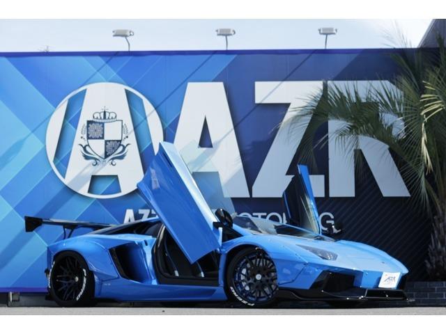 ランボルギーニ アヴェンタドール 2012y LP700-4 LBワークス GTウイング FORGIATOホイール Jウルフマフラー可変付 社外レーダー コーナーセンサー カスタム多数な入庫しました!