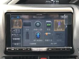 【ALPINE9型ナビ】大画面で迫力があり!!運転がさらに楽しくなりますね!! ◆DVD再生可能◆フルセグTV◆Bluetooth機能あり