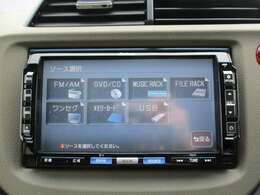 純正HDDナビ(VXH-112VS)です。DVD/CD再生のほかにもワンセグTV、ミュージックサーバーも装備されとっても便利です!