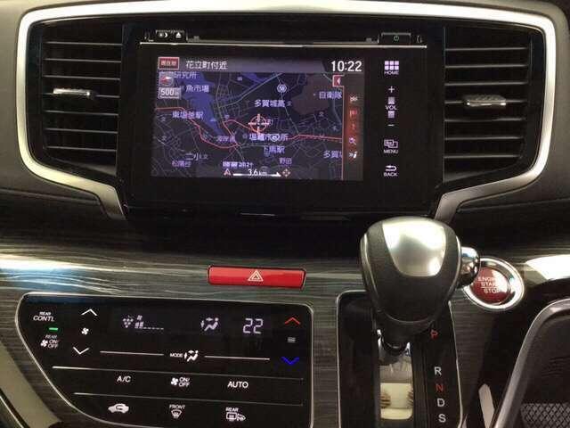 ナビゲーションはフルセグTV、インターナビ対応の純正メモリーナビを装備。お肌に嬉しいプラズマクラスター搭載のオートエアコン付きです。