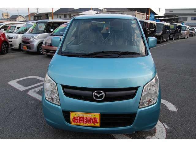ワゴンRと兄弟車になります☆ブルーメタリックが鮮やかなお車です!