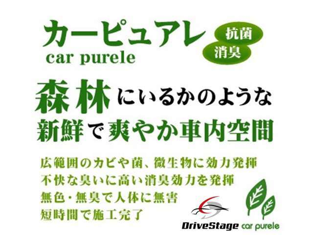 Aプラン画像:【安全・消臭・除菌・防汚】車内の気になる臭いを徹底分解!人体にも無害で優しい成分を使い、カビやウイルスなども除菌。効果も長期持続します!