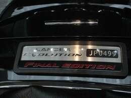 国内1000台限定!ファイナルエディション! シリアルナンバー付き! 「JP0499」