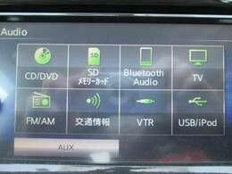 音響ソースは豊富です!DVDの再生も可能♪Bluetoothオーディオが装着されているのでスマホの曲再生も出来ます!