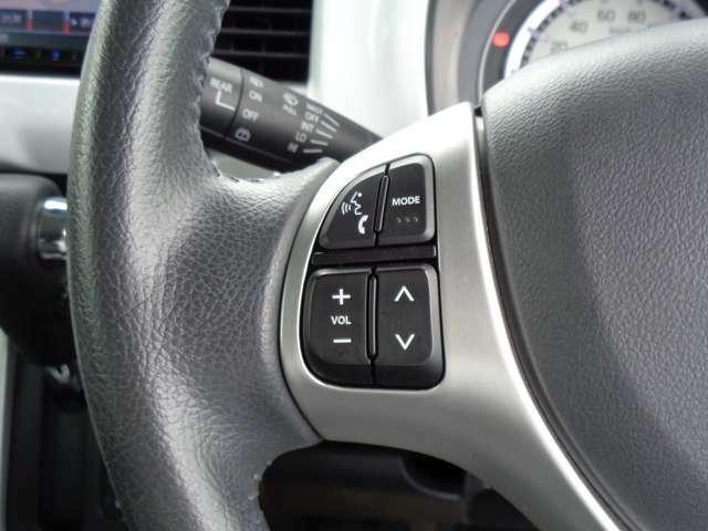 ハンドル左側には、オーディオコントロールスイッチが付きます。ハンドルを握ったまま安心して操作ができます。