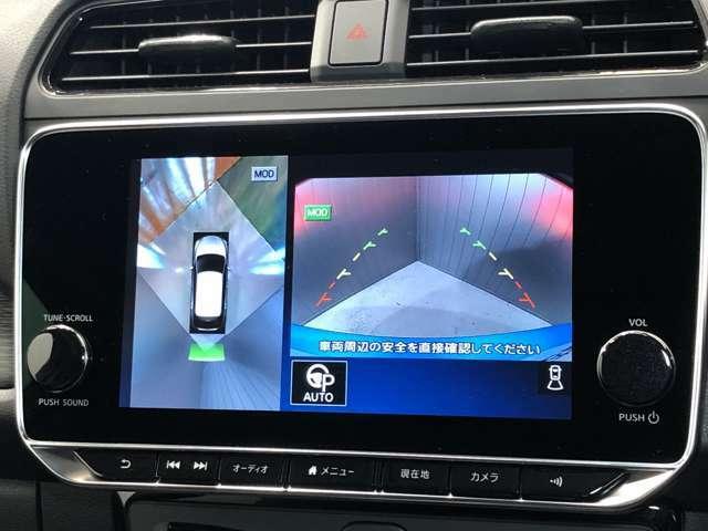 【アラウンドビューモニター】車を上から見下ろしているかのような映像で周囲の状況がひと目で確認、狭い駐車場に駐車するときも安心です♪♪障害物などがあると警告音がなりますので安心して駐車が出来ます★