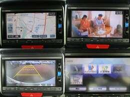 ナビゲーションはホンダGathersナビ (VXM-164VFi ) CD DVD再生 Bluetooth フルセグTVがご使用いただけます。 バックカメラ装備で車庫入れの時は安心です。