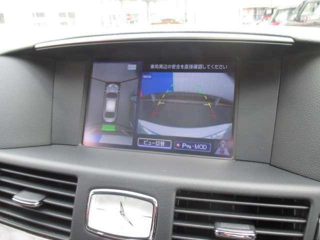アラウンドビューモニター付で、狭い駐車場でも安心なんです!