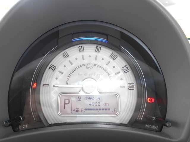 メーターは、置時計をイメージした可愛いデザインとなっております!走行距離は、4962kmです!