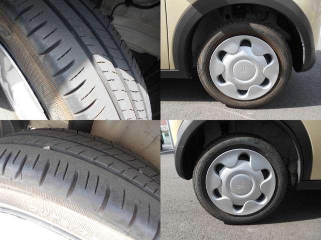 タイヤ溝も残っており良好な状態です!タイヤサイズは155/65R14です。